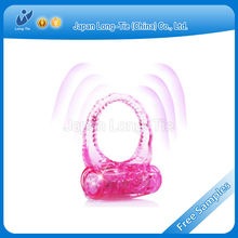 2015 Most Popular Beautiful Butterfly Jelly Vibrating Cock Ring