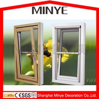 Aluminum Profile Hung window with mosquito screen/tilt turn windows