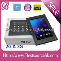 "7"" tablet pc with 3g sim card slot Bulit in 3G phone call Andorid 4.0 capacitive 5 point touch"