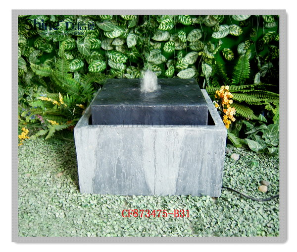 factory direct modern polyresin indoor water fountain for home/garden