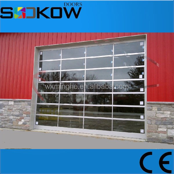 high quality single pane glass garage doors/automatic glass garage door/glass panel garage doors