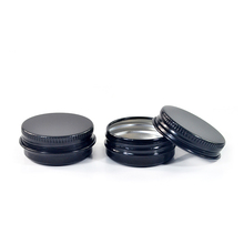 High quality 5g 10g 15g 30g 100g black aluminum cream jar for hair wax