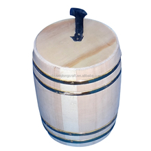 2017 new mini antique wooden coffee bucket with low price