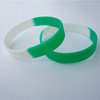 China supplier professional custom two color silicone bracelet