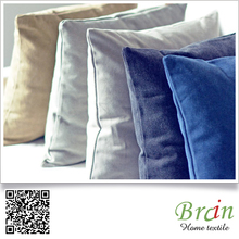 Japan MUJI Style Hign Quality Fancy Solid Color Velvet Cushion Cover For Sofa chair and Bedding