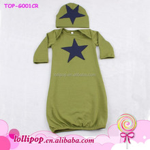 Wholesale christening gowns cotton boy long sleeve with star children gown pictures of latest gowns designs
