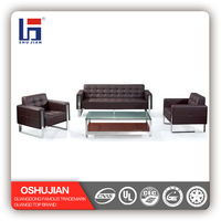 Top Quality Leather Sectional Office Design Sofa Set SJ897