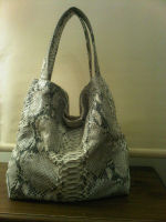 genuine python leather handbag