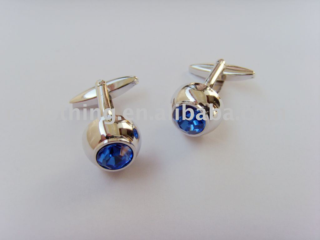 Cufflink for promotion, Quality cufflinks with blue cystal
