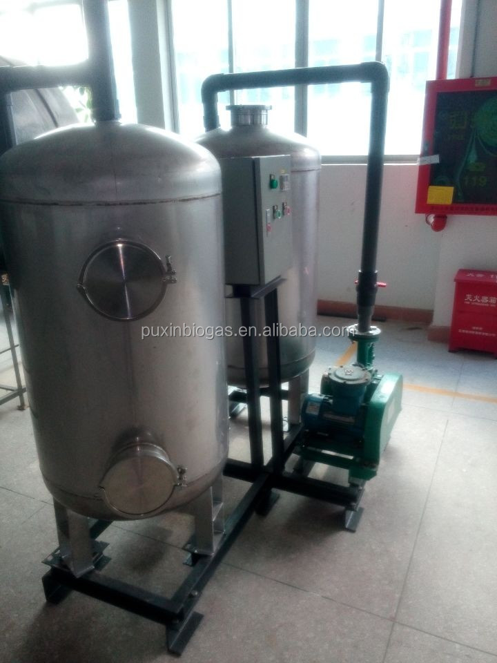 industrial biogas desulfurizer and dehydrator tower filter facility