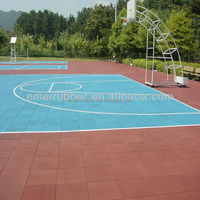 outdoor rubber sports flooring