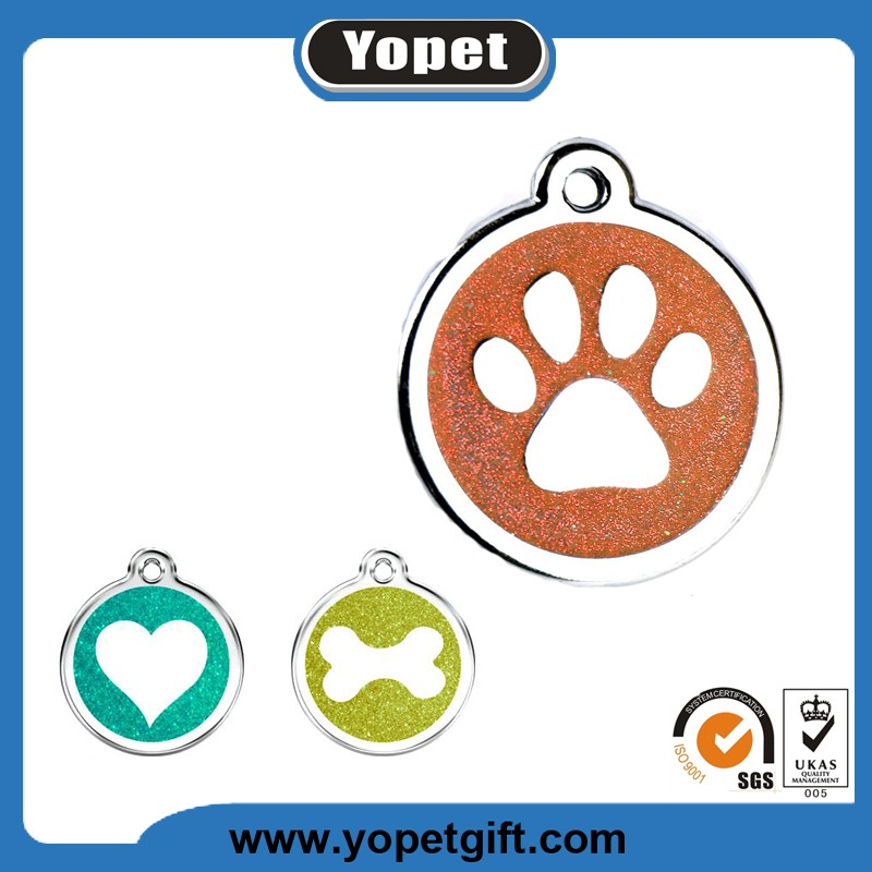 New Arrival Custom Shape Print Logo Metal Pet ID Dog Tag For Dog Wholesale
