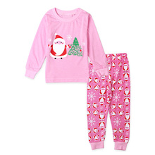 Wholesale baby clothes set Christmas suit long sleeve tops+pants 2pcs set kids clothing set girl's clothes
