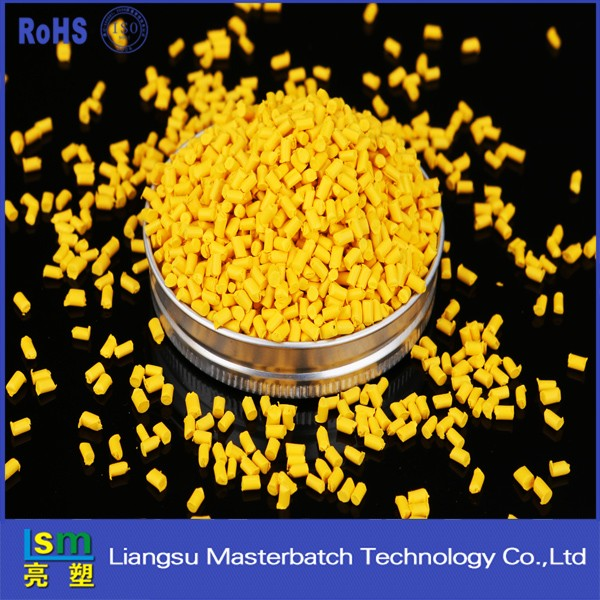 Film grade extrusion grade Yellow masterbatch plastics particles ping pong ball wholesale