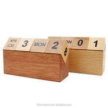 High Quality Perpetual Wooden desk calendar