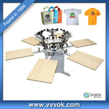 Screen printing machine for clothes