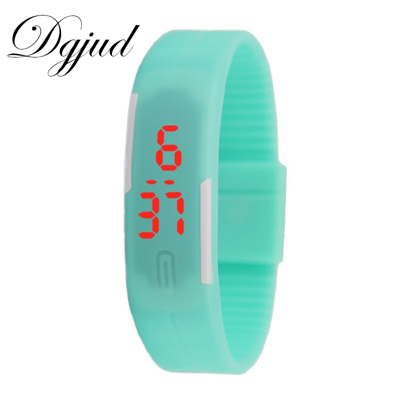 watch 2017 luxury Hot seller Sport digital LED magnet buckle TPU silicone wristwatch wholesale $1 watches