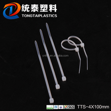 2016 new self -locking nylon cable ties for tie wire with different colors TTS-4*100