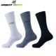 Custom tall adults solid color polyester and cotton seamless athletic sports socks with logo