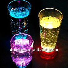 Plastic led flashing cup, shot glass plastic with LED,
