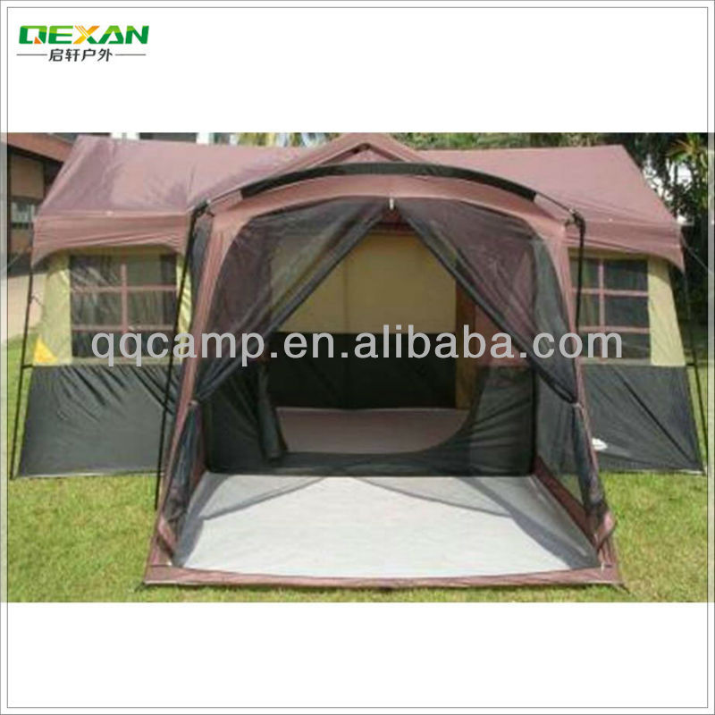3 rooms outdoor cabana house tent for 14 persons