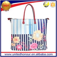 latest digital print bags manufacture fashion digital print pu tote girls handbags
