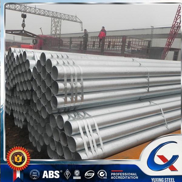 Galvanized pipe / hot dip galvanized steel pipe / threaded conduit gi pipe