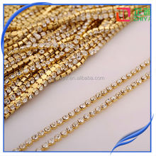 New style crystal empty roll rhinestone cup chain