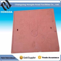 B125 700X700mm BMC composite Manhole cover from Hongda