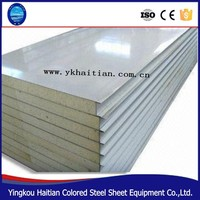 china supplier 50mm 75mm 100mm 150mm sandwich panel PU roof and wall