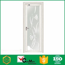 Wholesale Aluminum Frame White Asian Mexican Pre-hung Exterior Door