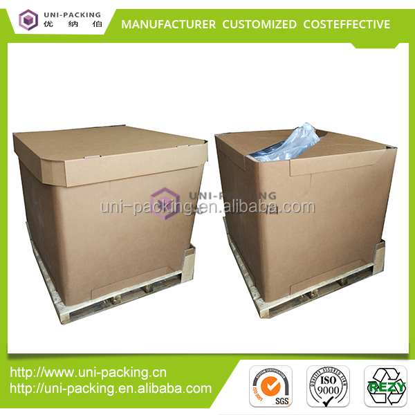 Heavy duty packing carton 1000L corrugated board paper IBC