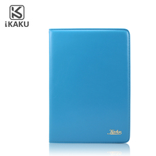 2017 Kaku Magnetic shockproof smart genuine leather flip stand cover case for ipad air with handle