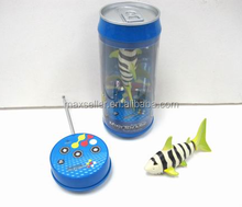 NEW radio RC 3CH mini robo fish in gift can