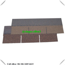 Thailand colorful 3 tab asphalt roofing shingles for Villa