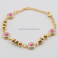 stainless steel gold chain bracelet for friendship