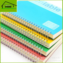 Commercial office use a5 / a4 cheap daily use pvc plastic cover spiral rings notebook