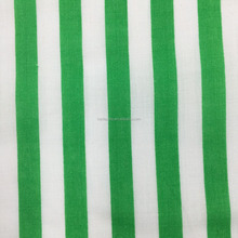 Green Ticking Stripe Fabric 100% natural ramie Fabric material digital print Chinese style Robe dress tissu