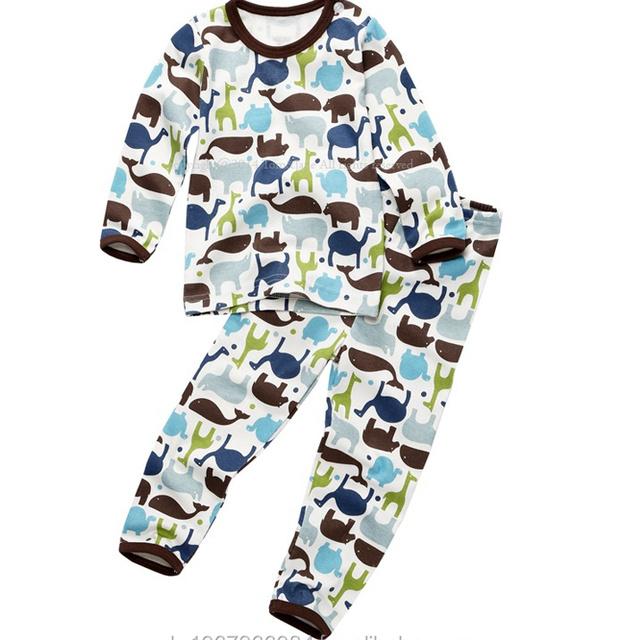 Europeoan style cotton 100% boy slim sleepwear pajamas kids underwear mono jungle