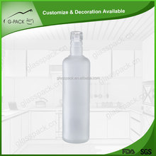 Factory direct sales all kinds of top grade frosted glass red wine bottle