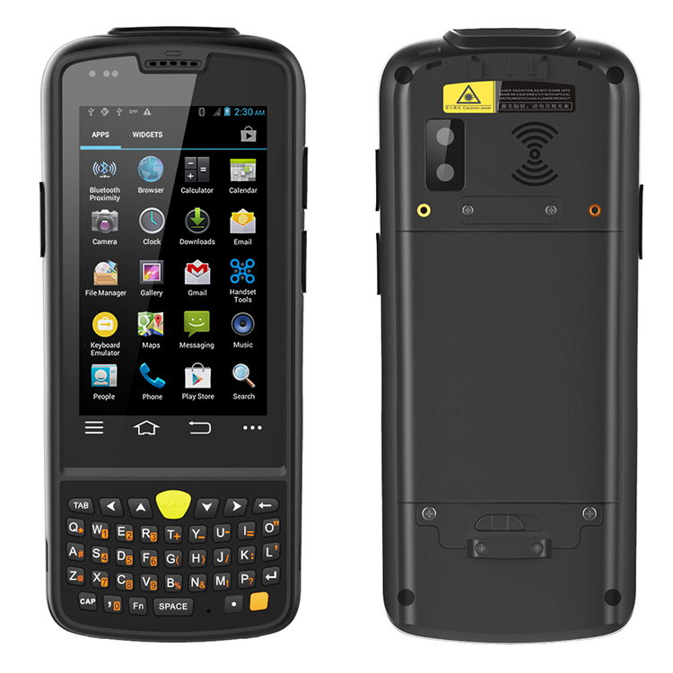 android 5.1 android warehouses stock inventory Handheld Terminal 1D 2D Barcodes data capture devices With Pistol Grip