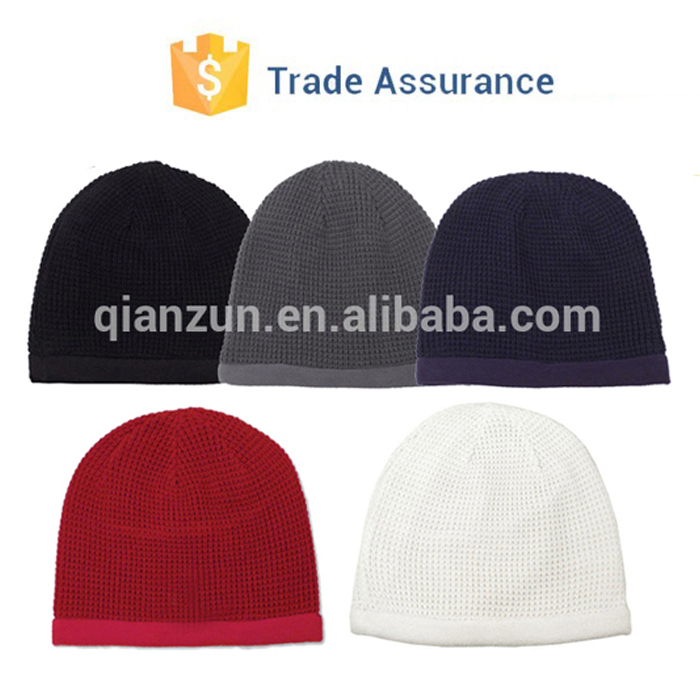 Men Women Super Soft Reversible Fleece Beanie Hat Winter Warm Skull Cap