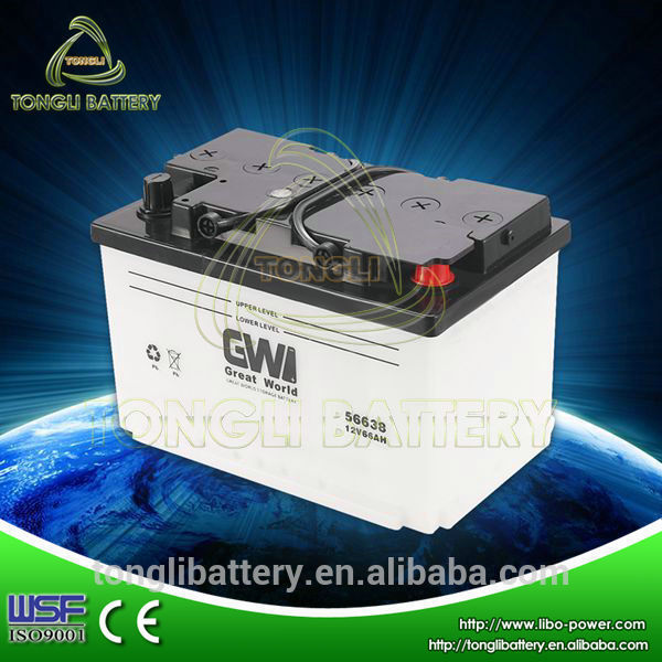 car battery 12v DIN66 manufacturer super start auto batteries
