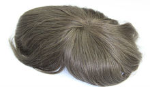 Customzied order gray color men toupee, Indian remy human hair toupee / wig for men