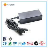 60 W 12V DC 5amps AC Adapter with 2 pin ac power cord plug