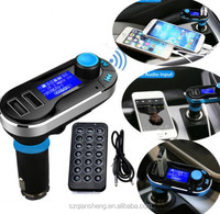 High Quality Dual USB Car Charger Wireless Bluetooth FM Transmitter MP3 Player Kit With Remote Control