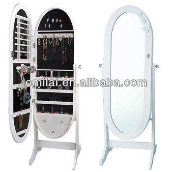 Oval jewellery cabinet mirror,bedroom furniture design