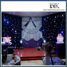 LED star curtain is easy to fit and dismantle as LED stage backdrop. It's used for stage backdrop Night club, live show, fashion