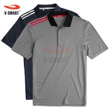CT151 Custom Polo Shirt with 3 Stripes on Shoulder Sports Uniform with Good Quality