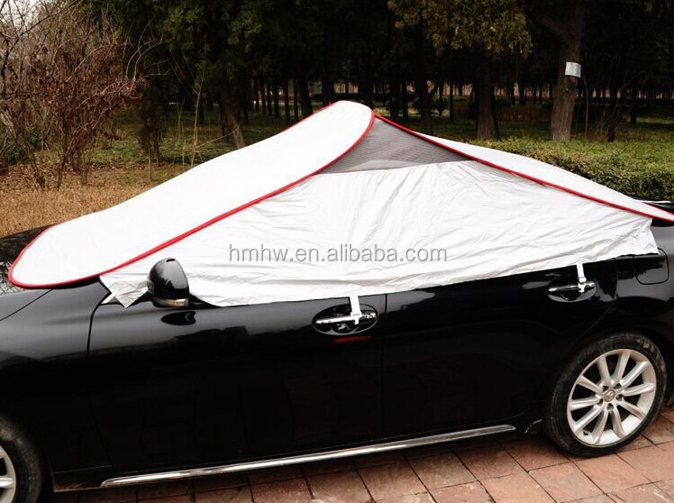 Portable Retractable Car Cover---Rolled up Sun Shade Car cover